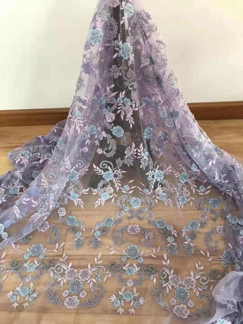 Alta calidad Cyndi 1.1609 tela de encaje francés tela de encaje africano con tela de tul de malla bordada-in encaje from Hogar y Mascotas    1