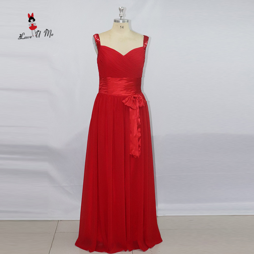 Affordable Wedding Guest Dresses: Red Imported Plus Size Bridesmaid Dresses Long Sparky