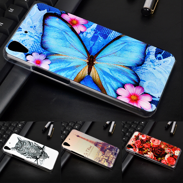 J&R Case For Huawei Y6 SCL-L21 Color Patterened Cover For Huawei Ascend Y6 SCL-U31/Honor 4A Hard PC Protective Phone Back Cover