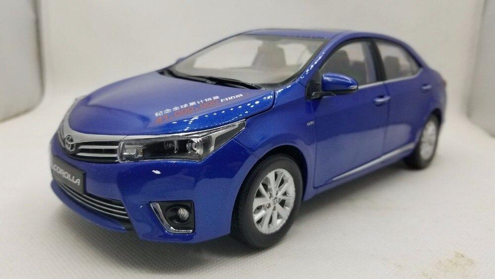 1:18 литья под давлением модели для Toyota Corolla 2014 синий редкий сплав игрушечный автомобиль миниатюрный коллекция подарки