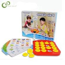 6ffcb5e357 Crianças Treinamento da Memória Matching Pair Jogo link up xadrez Brinquedos  Educação infantil criança Pai brinquedo Interativo .