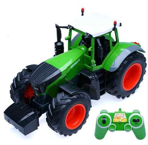RC Lkw Landwirt auto Traktor 2,4G Fernbedienung Anhänger Dump/Rake 1:16 Hohe Simulation Skala Bau Fahrzeug Kinder spielzeug