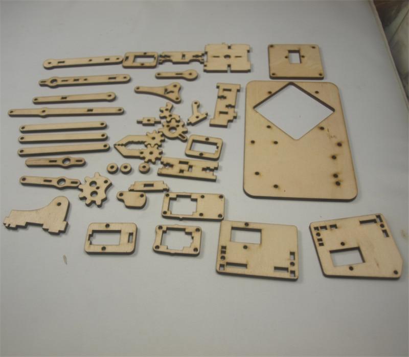 V1.0 Laser Cut Wooden Kit/set 3mm Thickness Pocket Size Arm Robot With The Best Service Aspiring Diy Mearm Your Robot