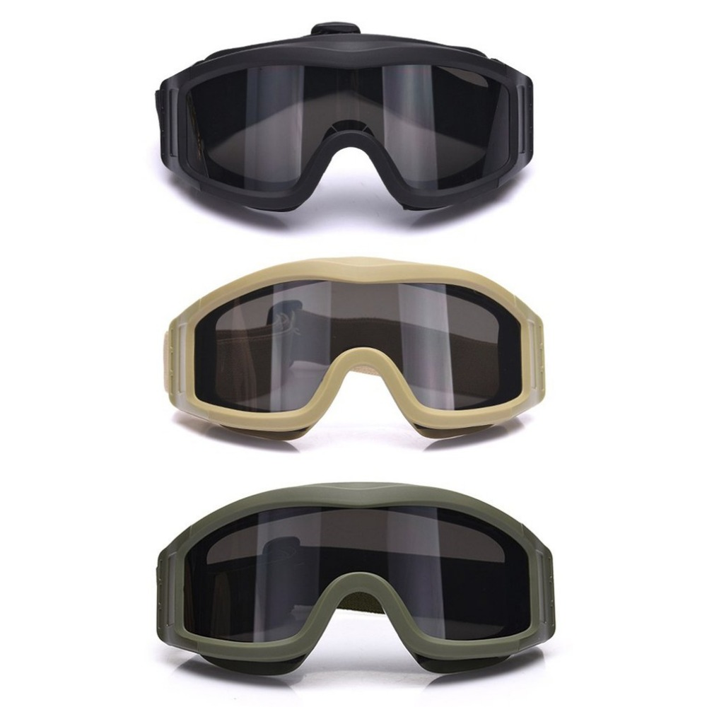 Tactical Camping Cycling Protective S67 Goggles Glassess Eyewear Eye Protective Dustproof With 3 Lens For CS Game Airsoft Safety