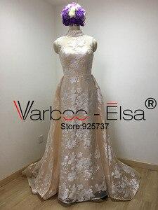 Image 3 - Real Photos Luxury Sequined Lace Evening Dresses Halter Hand Pleated Custom Made Vestido De Festa 2018 from Yousef Aljasmi