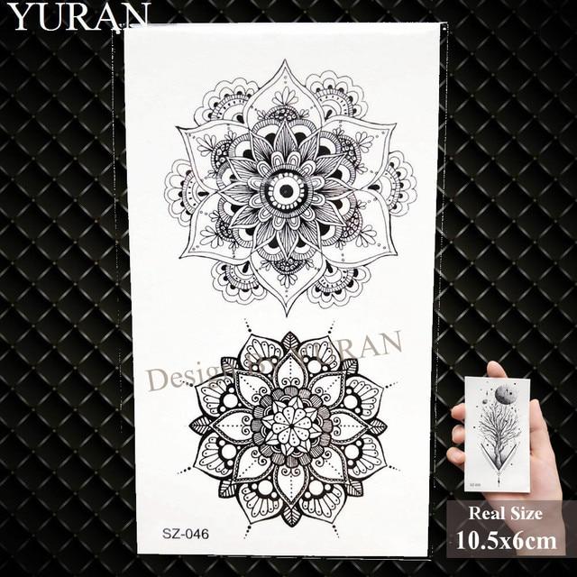 e8c369404 קנו אמנות הקעקוע והגוף   YURAN Geometric Wolf Temporary Tattoo ...