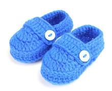 1 пара свободного покроя мягкие мальчиков девушки сплошным цветом ручная вязать мелкая малыша обувь детская кроватка обувь 11 см