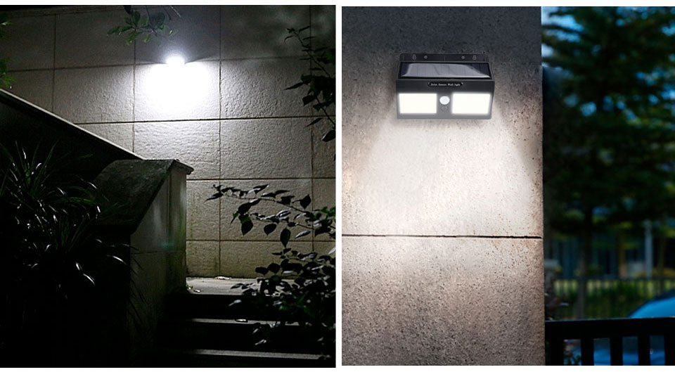 Outdoor LED Solar Light Waterproof Decoration Motion Sensor Solar Lights for Garden ABS COB Outdoor Solar Lighting Wall Street (11)
