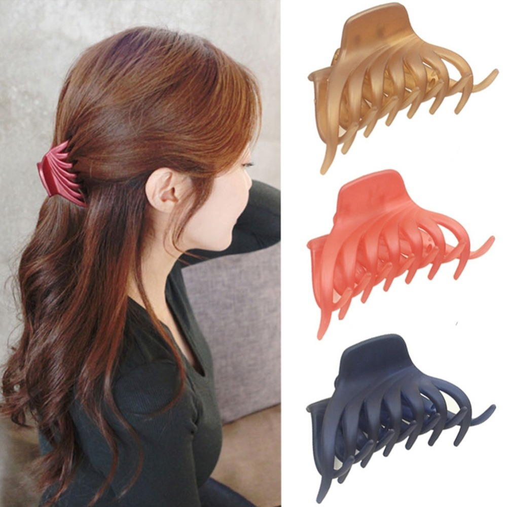 Large Acrylic Banana Grip Hair Claw Hair Clip Ladies Hairpin Crab Claw Jaw Clamp