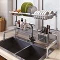 2019 Новинка 304 кухонная сушилка для посуды из нержавеющей стали тарелка столовые приборы чашка сушилка для посуды сушилка над раковиной кухо...