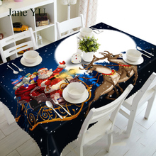 JaneYU Christmas dust-proof bedside table cloth 3D tablecloth mat is environmentally friendly and tasteless