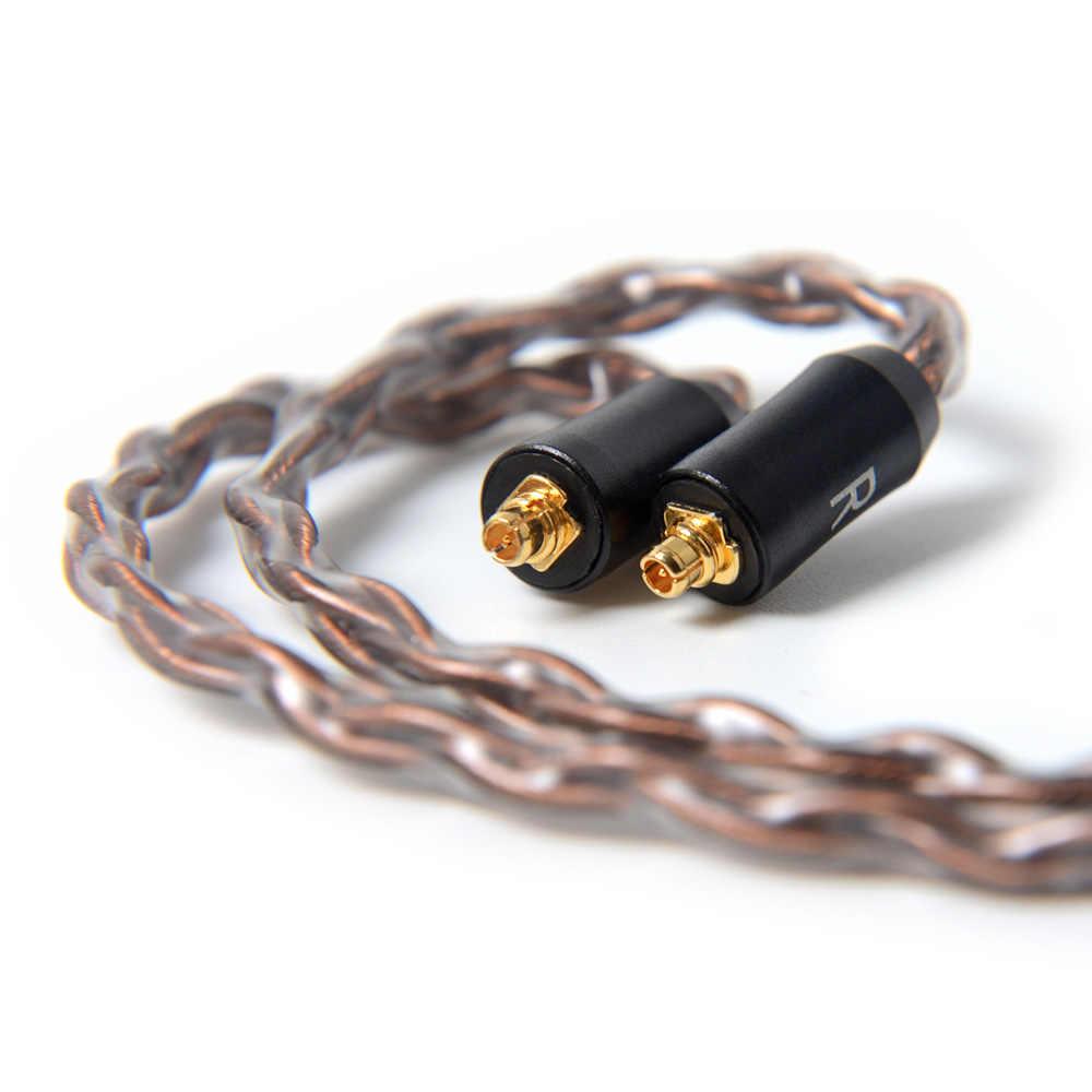 NICEHCK 8 rdzeń wysokiej czystości miedzi kabla MMCX/2Pin 3.5/2.5/4.4mm wyważone dla TFZ TRN KZZSN/ZS10/AS06 CCAC16 NICEHCK NX7/M6/F3