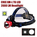 AloneFire HP87 Cree XM-L T6 LED cree led Headlamp Headlight for 1/2-18650 battery