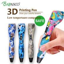 2018 Newest 3D Pen Five Kinds Camouflage Color 3D Printing Pen Bapasco Brand Pen 3D compatible ABS/PLA/PCL 5V 2A USB Charge Toys
