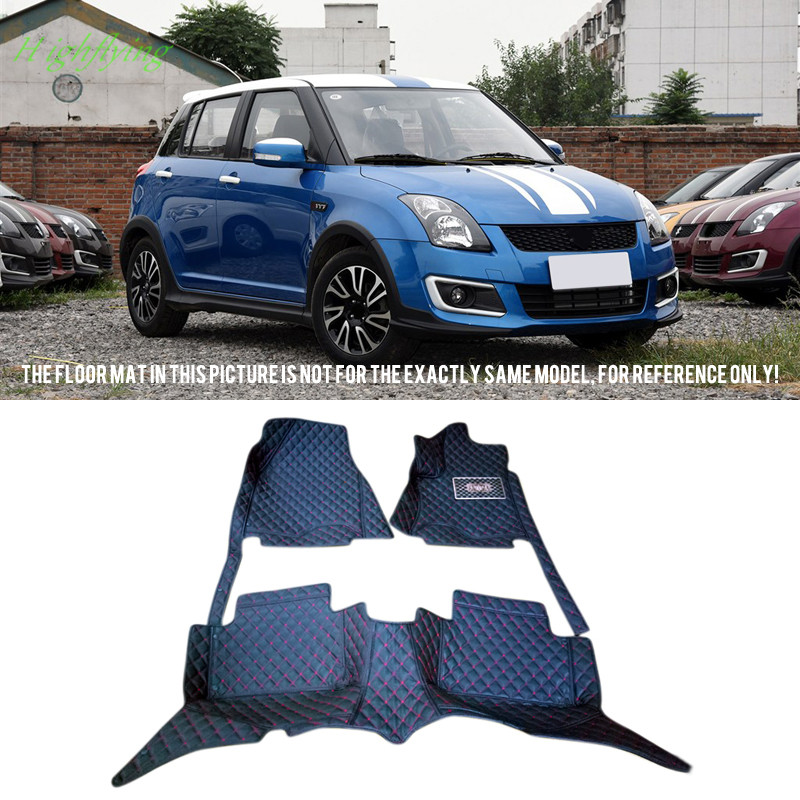 Interior Accessories Floor Mats Carpets Foot Pads Covers For Suzuki Swift 2004-2009 For Suzuki Swift 2013-2015 car accessories interior floor mats carpets protector foot pads for porsche cayenne 2011 2016
