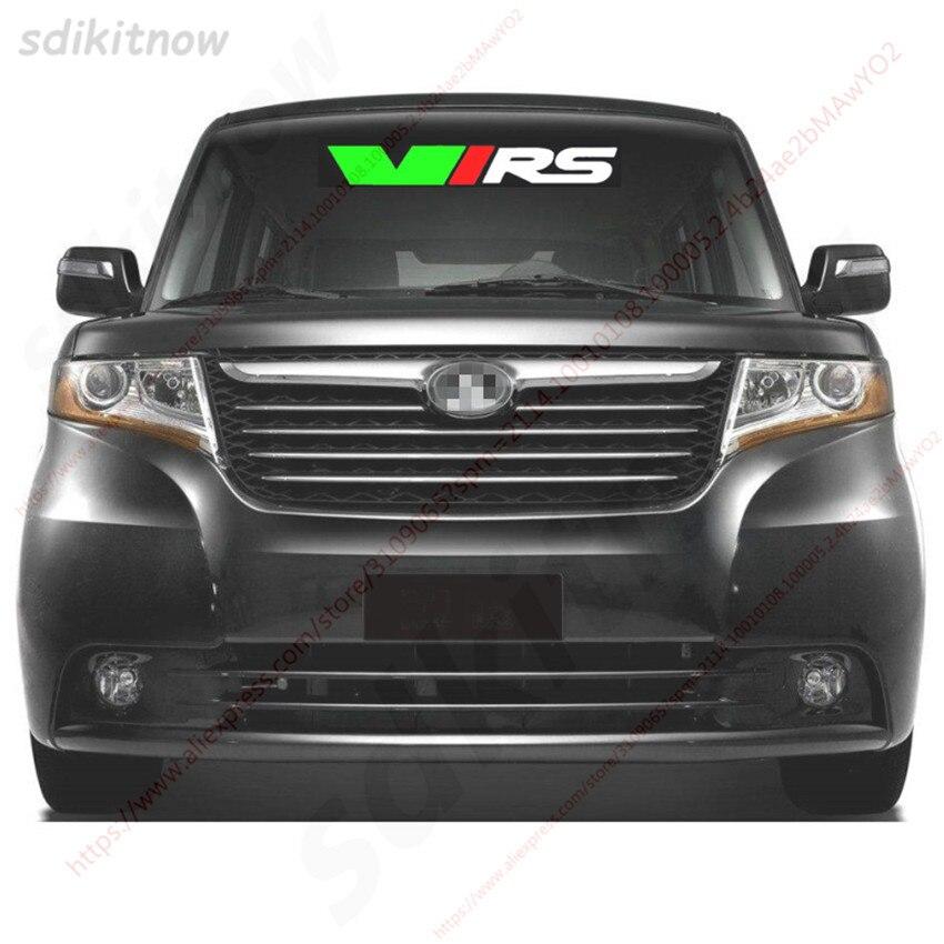 80 см автомобиля спереди и сзади лобовое стекло Стикеры Спорт пропуск Стайлинг украшения для Skoda VRS Octavia A5 A7 RS Fabia Superb быстрое Yeti