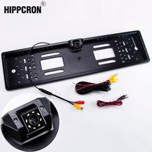 Hipppcron Автомобильная рамка для камеры номерной знак ЕС Евро Тип ночного видения заднего вида камера парктроник резервный Водонепроницаемый светодиодный