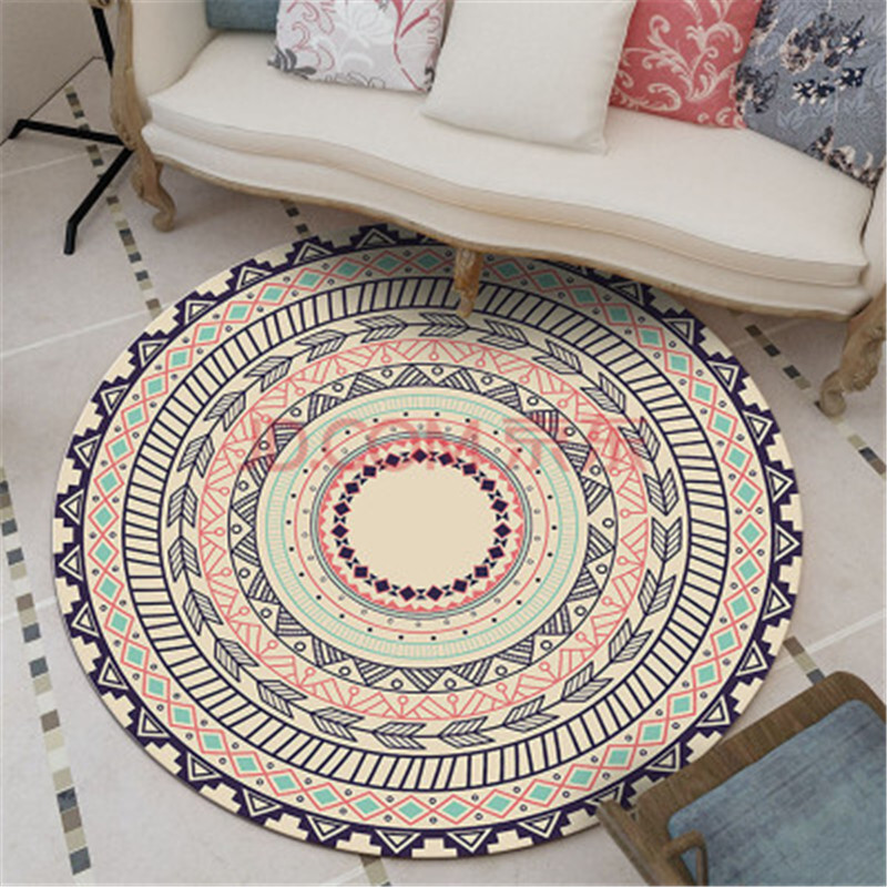 Round Carpet for Computer Chair Hanging Basket Living Room Bedroom Study Table Mat bedside blanket Baby Kid Floor Mats