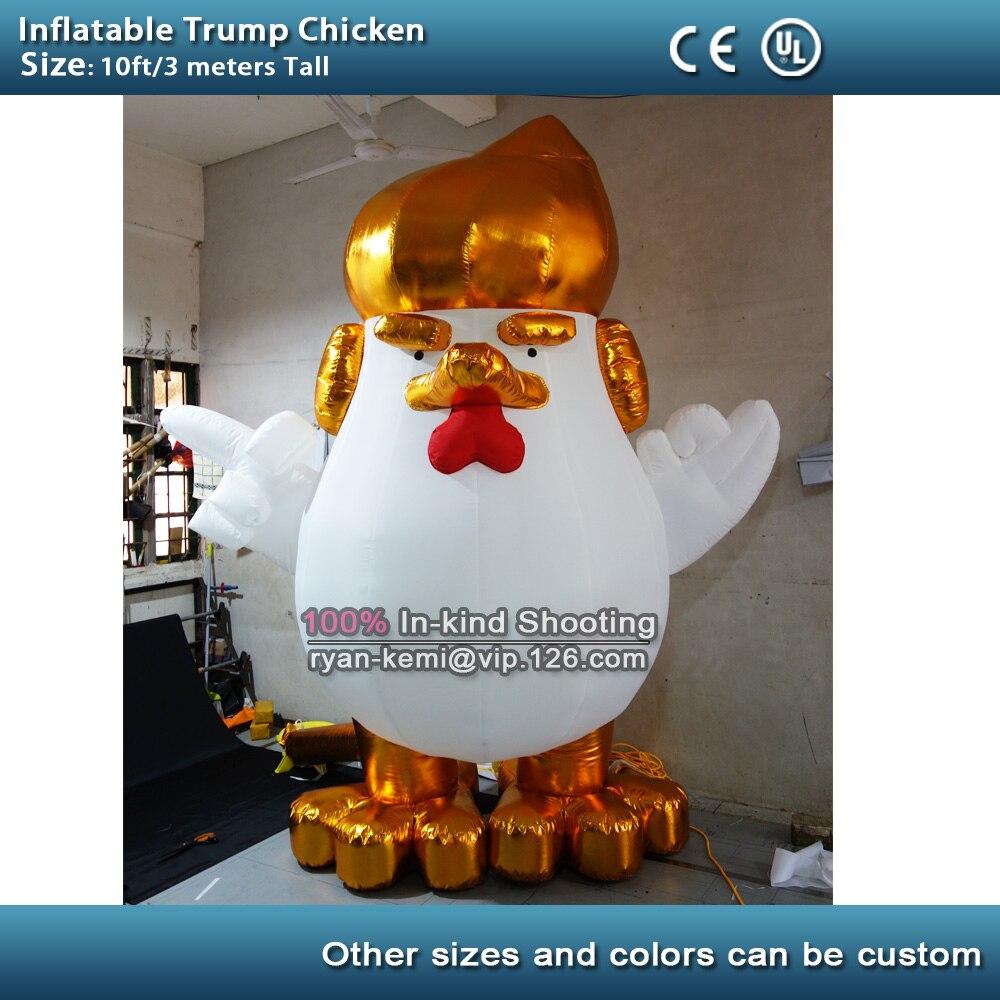 Livraison gratuite gonflable Donald Trump poulet coq gonflable 10ft coq gonflable homme avec CE UL souffleur