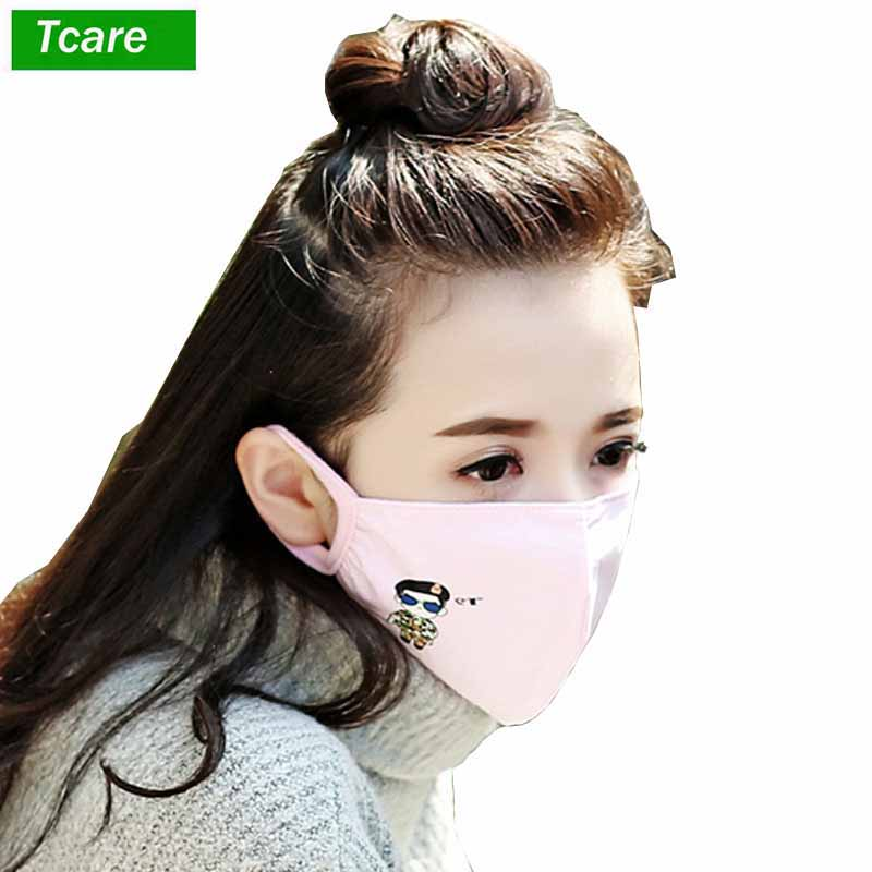 1Pcs Korea Unisex Dust Allergy Flu Masks Washable Breath Healthy Safety Respirator Face Mouth  For Gilrs And Woman Kids