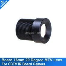 16mm 20 Degree Angle Fixed CCTV lens IR mount Board Camera lenses