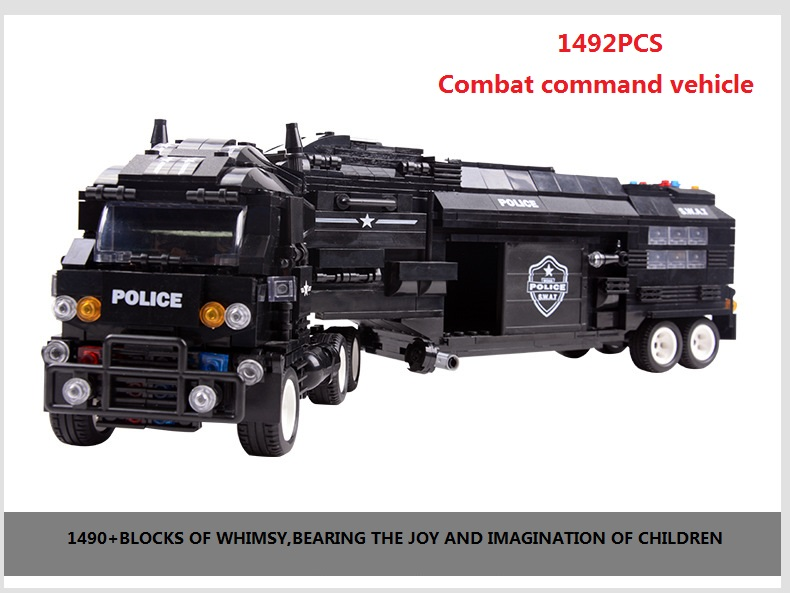 1492 pcs city police station system Special Police Unit military Building blocks Souptoys birthday gift Toy car Festive Gift bohs building blocks city police station coastal guard swat truck motorcycle learning