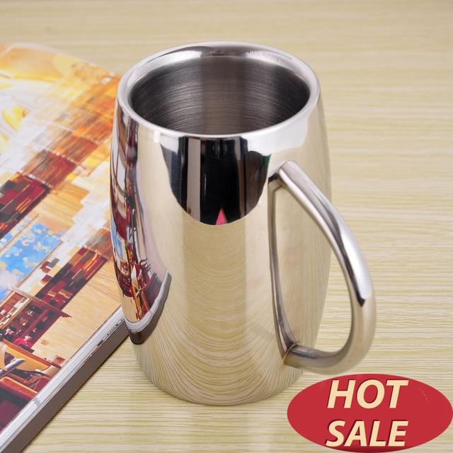 Double Wall stainless steel tumbler mug insulated Coffee Mug Beer Tea Cup Drinkware tasse caneca criativa cerveja 300 ml 430 ml