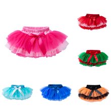 Bebé niña falda Tutu de tul de encaje de bebé recién nacido trajes de bebé niños faldas de Ballet para baile fiesta princesa Niña de ropa