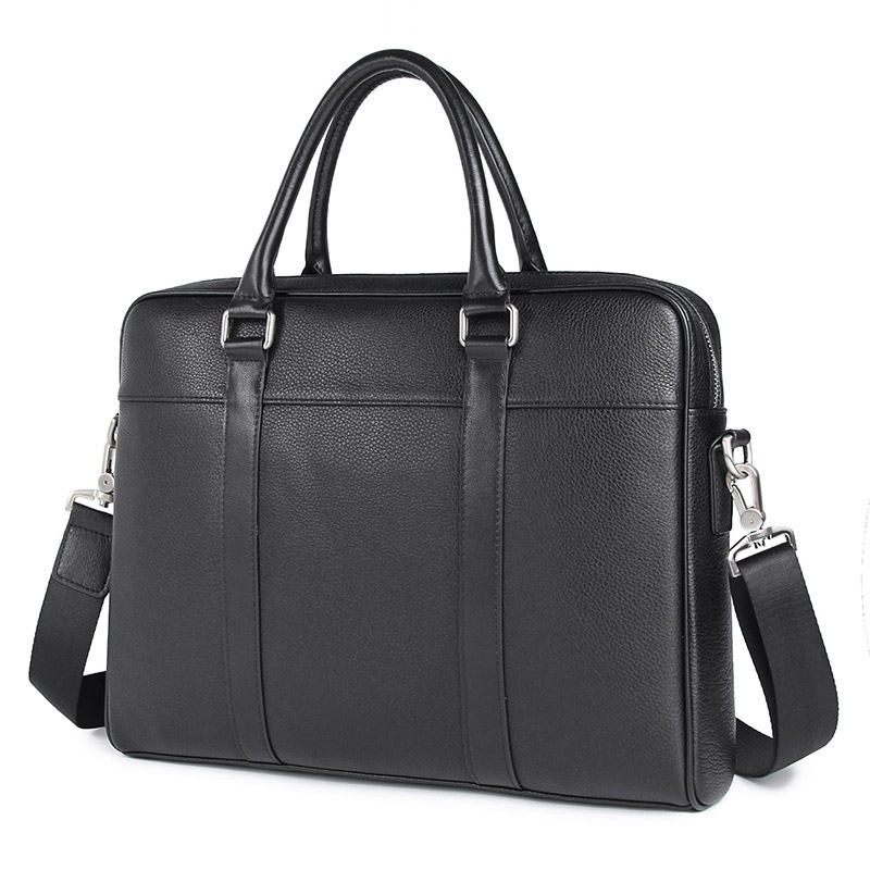 100% Genuine Leather Male Handbag Office Briefcase Bag For Business Men 7401A
