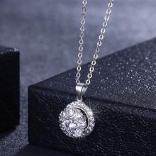 Высококачественные серебряные ожерелья для женщин aaa кубические