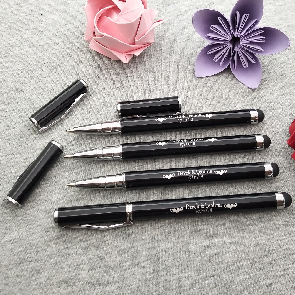 Business gift pens customized With your company logo for events touch stylus custom printed with