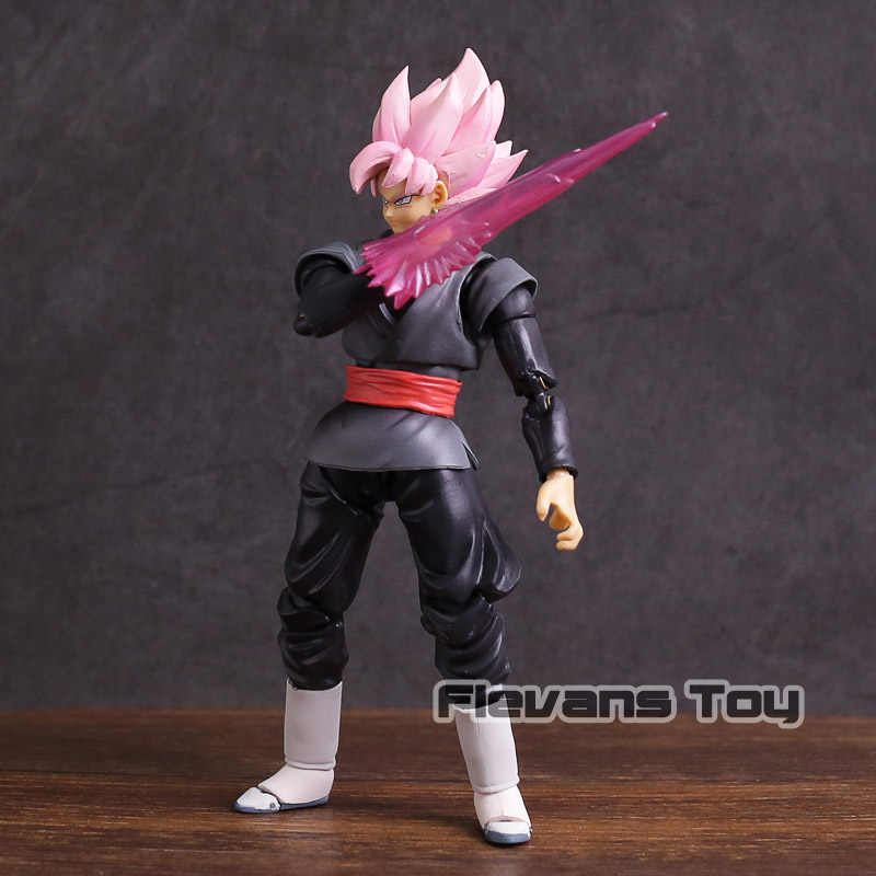 Son Goku Dragon Ball Super Saiyan Rosa Preto Zamasu PVC Action Figure Collectible Modelo Toy