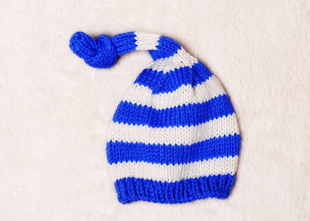 Detail Feedback Questions about blue and white stripes baby ELF stocking Hat   ea37f808ace