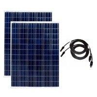 200w Solar Panel 24v 2Pcs Fotovoltaico Plate 400W 48v Solar Home System Off Grid Motorhome Caravan Car Camp RV Boat Phone LED