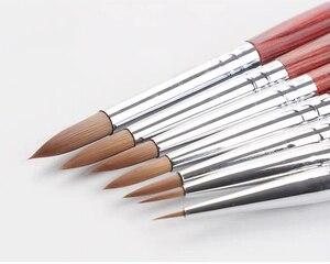 Image 5 - Barteen 7 peças de metal bolso gancho linha aquarela caneta unha ilustração mão conta portátil destacável escova