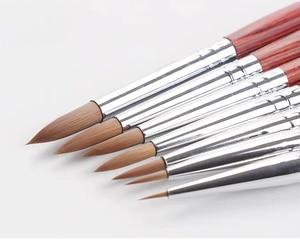 Image 5 - Barteen 7 חתיכות מתכת כיס וו קו בצבעי מים עט ציפורן עט איור יד חשבון נייד להסרה מברשת