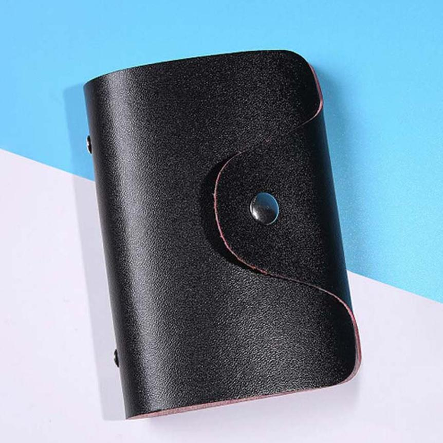 Fashion PU Leather Function 24 Bits Card Case Business Card Holder Men Women Credit Passport Card Bag ID Passport Card Wallet cute bow credit card holder women men 12 bits pu leather buckle business cards id card holder passport card holder wallet bag