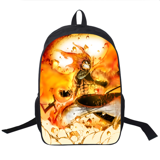 Anime Fairy Tail School Bag Teens Boys Girls Students Back to School Book Bag  Natsu Dragneel Erza Scarlet Printing Backpack a48b0b73a9f06