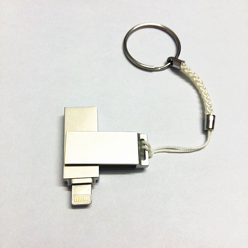 För iPhone OTG USB-flashdatorer 32 GB 16 GB 64 GB Kapacitetsutbyggnad för iPhone5 / 5s / 5c / 6 / 6s / 6plus / 7 / 7plus / ipadAir / Air2, Mini / 2/3