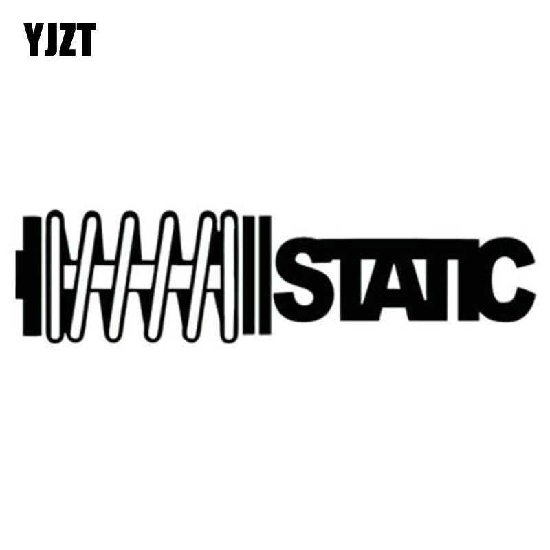 YJZT 14.8X3.7CM STATIC Coilovers Slammed Vinyl Decal Car Sticker Motorcycle Car-styling S8-0136