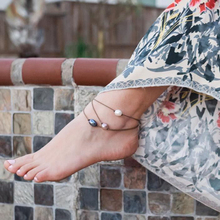 3 layers Colorful Round Bohemian Anklets For Women Multilayers Retro Rope Anklet Sexy Beach Sandals Barefoot Foot Jewelry