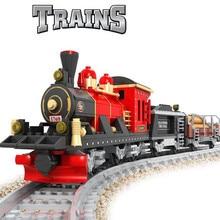 hot deal buy 410pcs city train building blocks sets compatible legoings track rails creator bricks hobbies educational toys for children