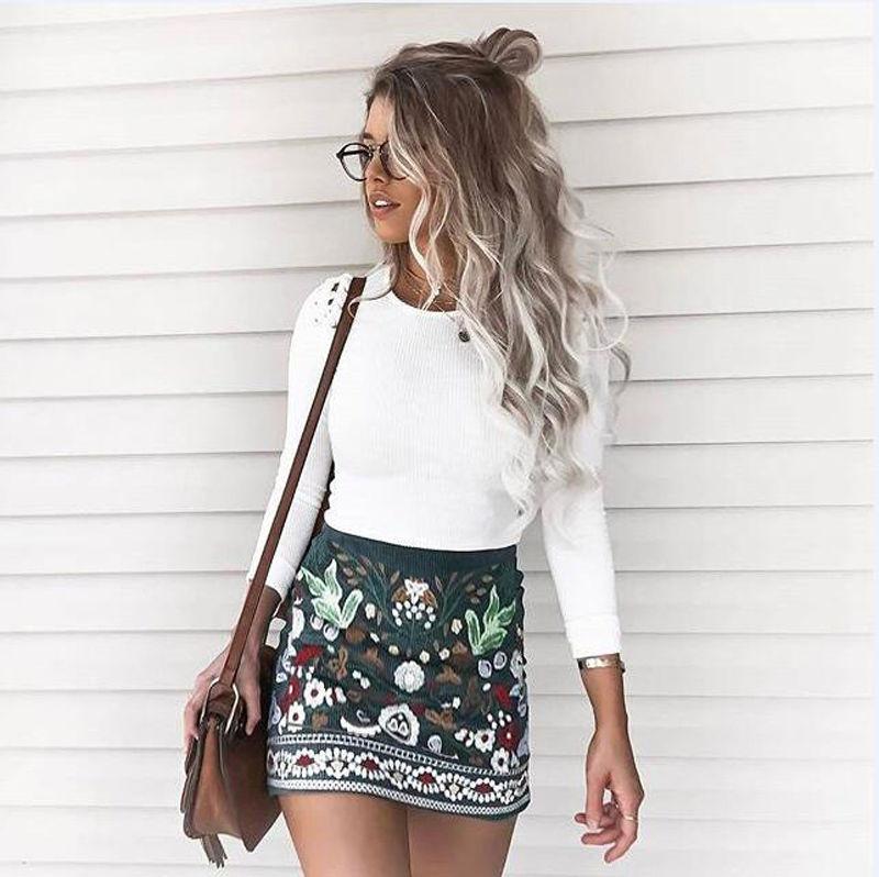 Brand  New Fashion Women Summer Floral Print Casual Short Mini High Waist Skirt  Ladies Flower Clothing