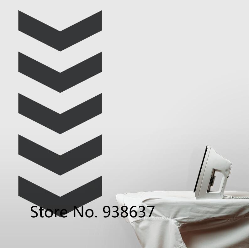 Chevron Seta Arte Da Parede Do Decalque Para Lavanderia Preto De Vinil Adesivos de Parede Removível Arte Adesivo Papel De Parede adesivo de parede ZB027