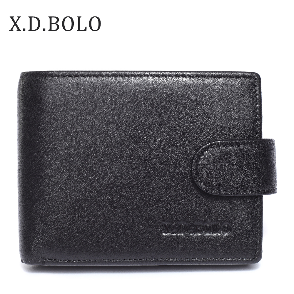 X.D.BOLO 2018 Fashion Genuine Leather Mens Wallet Coin Pocket Change Man Short Purse Real Cowhide Leather Men Wallets Carteira dudini mens leather wallet casual top quality wallets mens plaid small designer purse clutch fashion carteira card coin pocket