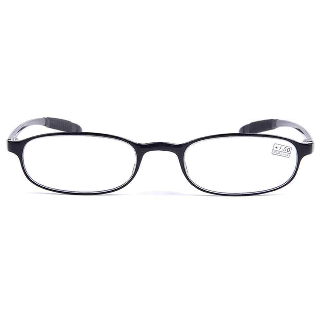 Óculos + 1.0 A + 4.0 Óculos de Leitura Das Mulheres Dos Homens Retângulo Preto Quadro Braço Flexível Unisex Lazer 28mm/ 1.1 polegada