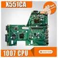X551CA 1007u CPU REV 2.2 dla ASUS X551CAP X551CA X551C X551CA X551CA płyty głównej laptopa płyty głównej