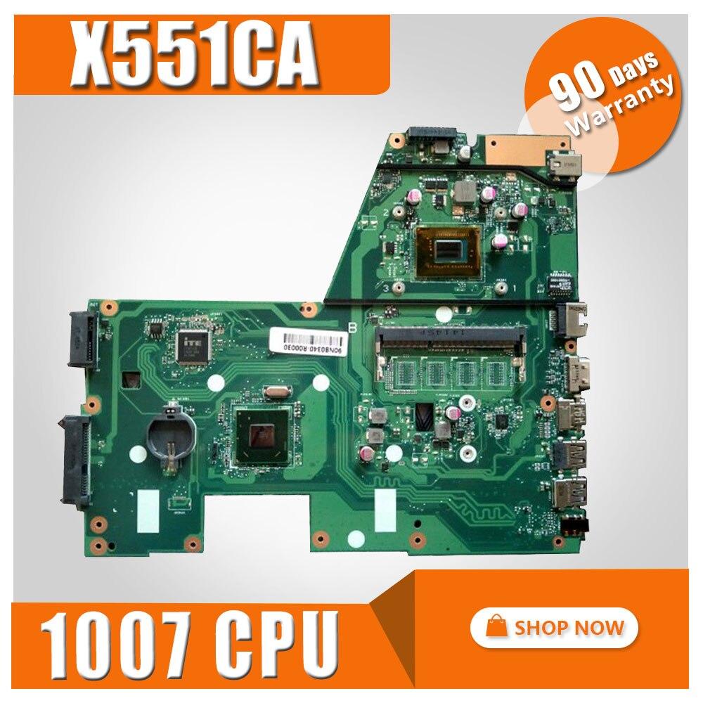 X551CA Motherboard 1007u CPU REV 2.2 Para ASUS X551CAP X551CA X551C Laptop motherboard Mainboard X551CA X551CA Motherboard