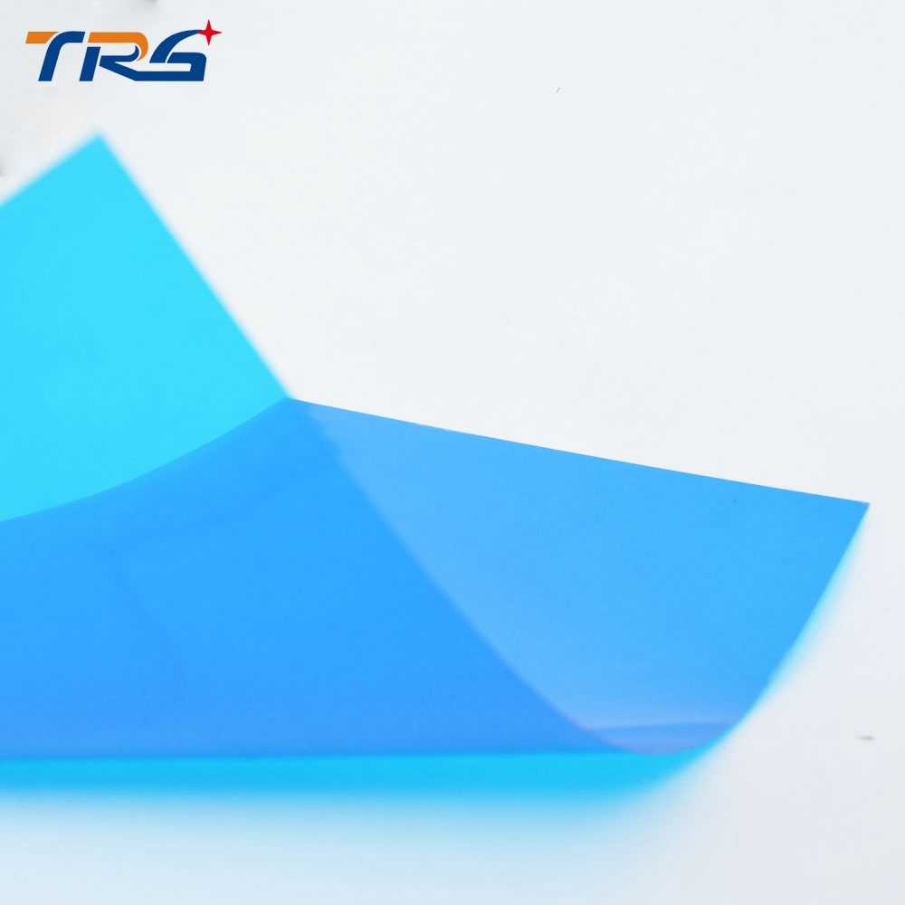 architectural blue color  ABS plastic transparent PVC sheet for architectural model making building houses