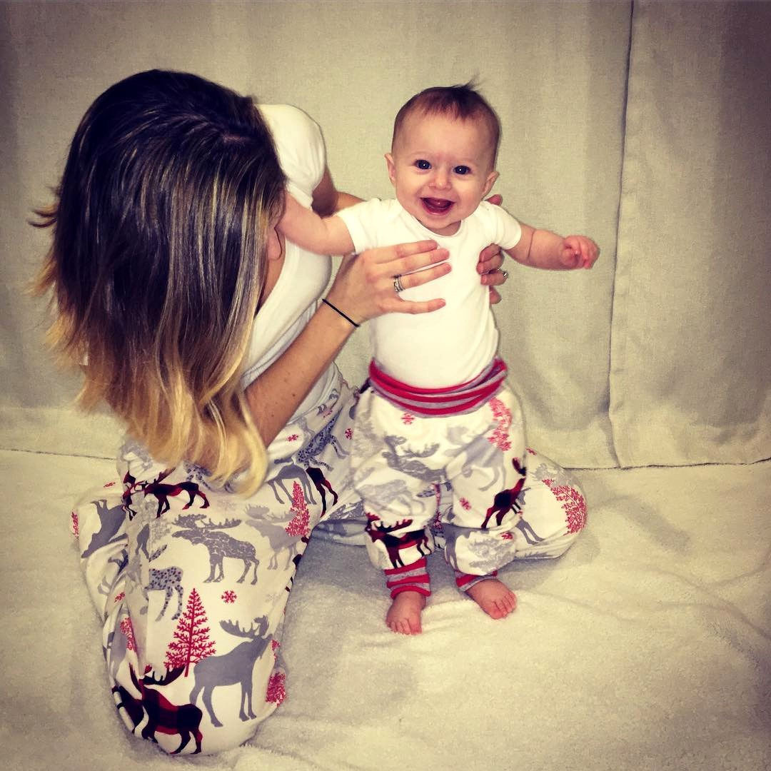 Christmas Family Match Clothes Women Kids Newborn Baby Reindeer Pant Leggings Bottoms Trousers Casual Harem Pants